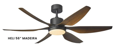 "FANCO HELI 56"" MADEIRA DC CEILING FAN + REMOTE CONTROL + LED LIGHT KIT RGB - Domaco"