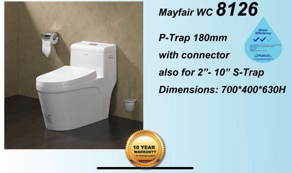 Mayfair 8126 Tornado Flushing 1-Piece Toilet Bowl (248000)<br>*Contact us for best price - Domaco