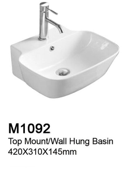 TIARA M1092 BASIN (6800) *Contact us for best price - Domaco