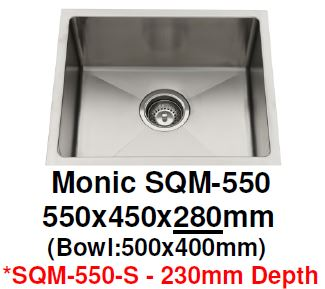 Monic SQM-550 & 550-S Kitchen Sink - Domaco