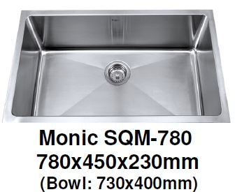 Monic SQM-780 & 780-DB Kitchen Sink - Domaco