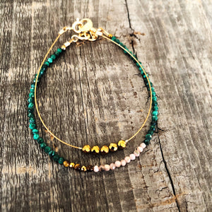 """Julian"" Collection Set of Two Gemstone Bracelets"