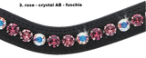Custom XL Crystal Mix Browband