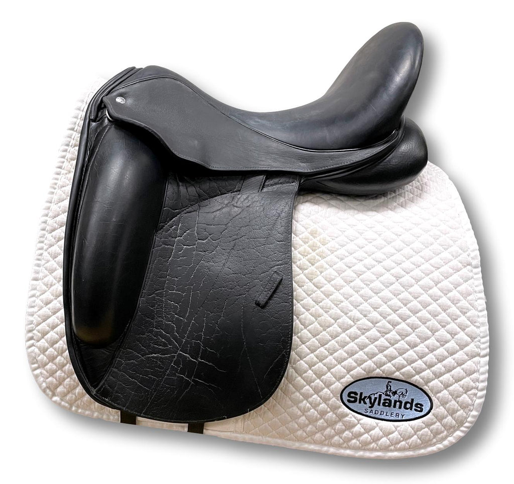 "Used Custom Icon Eclipse 17.5"" Monoflap Dressage Saddle"