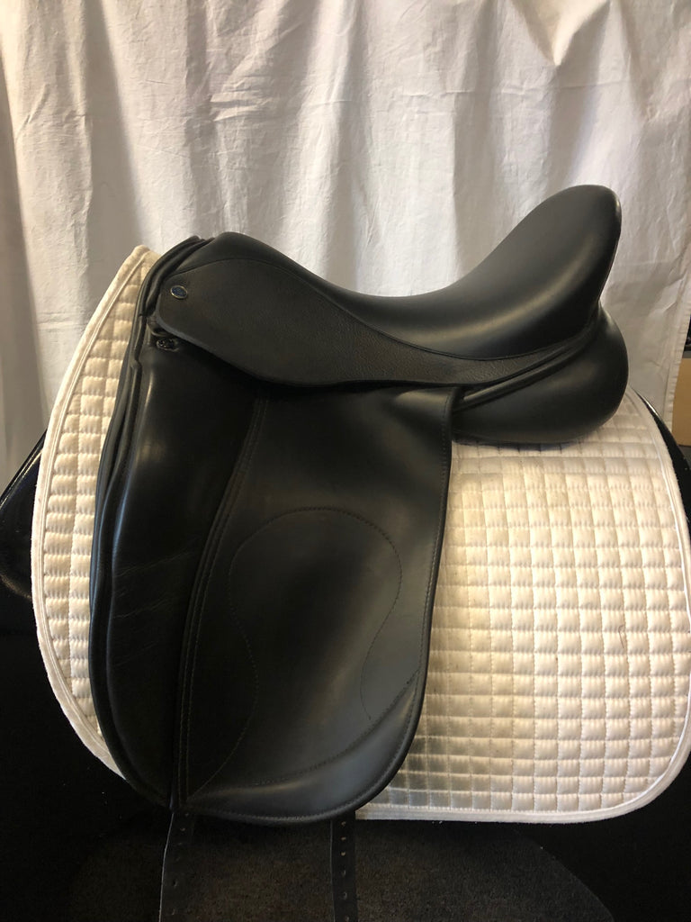 "Used Hulsebos Dressage Saddle - Size 18"" - Black"