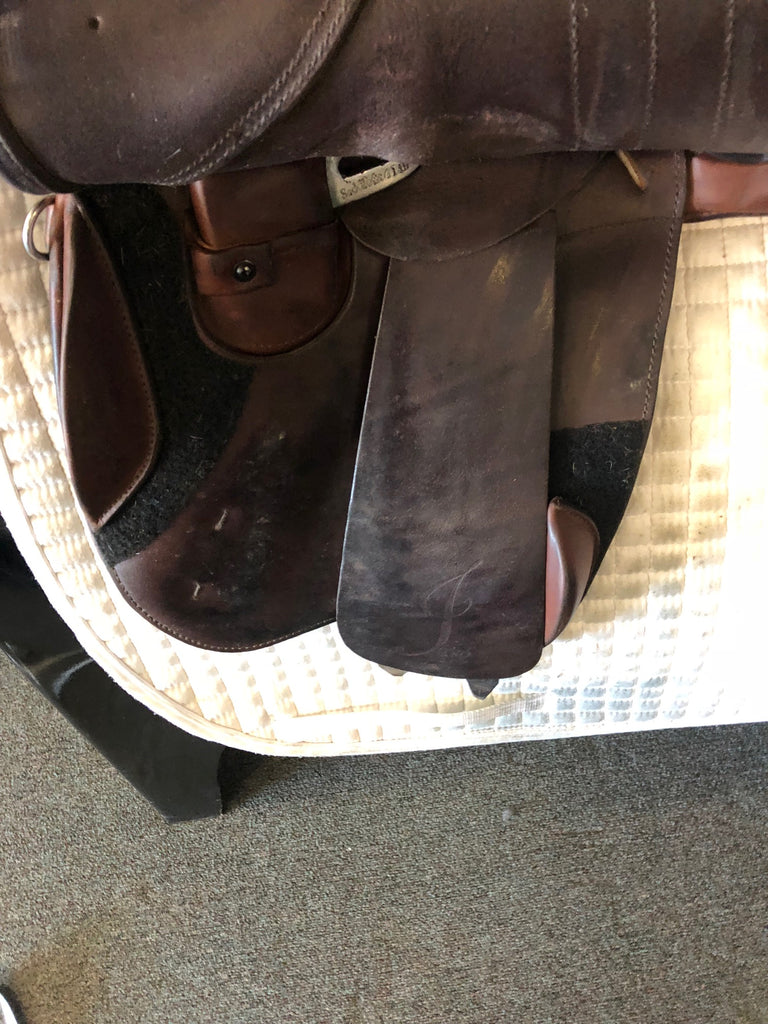 "Used Schleese Jete 17.5"" Jump Saddle"