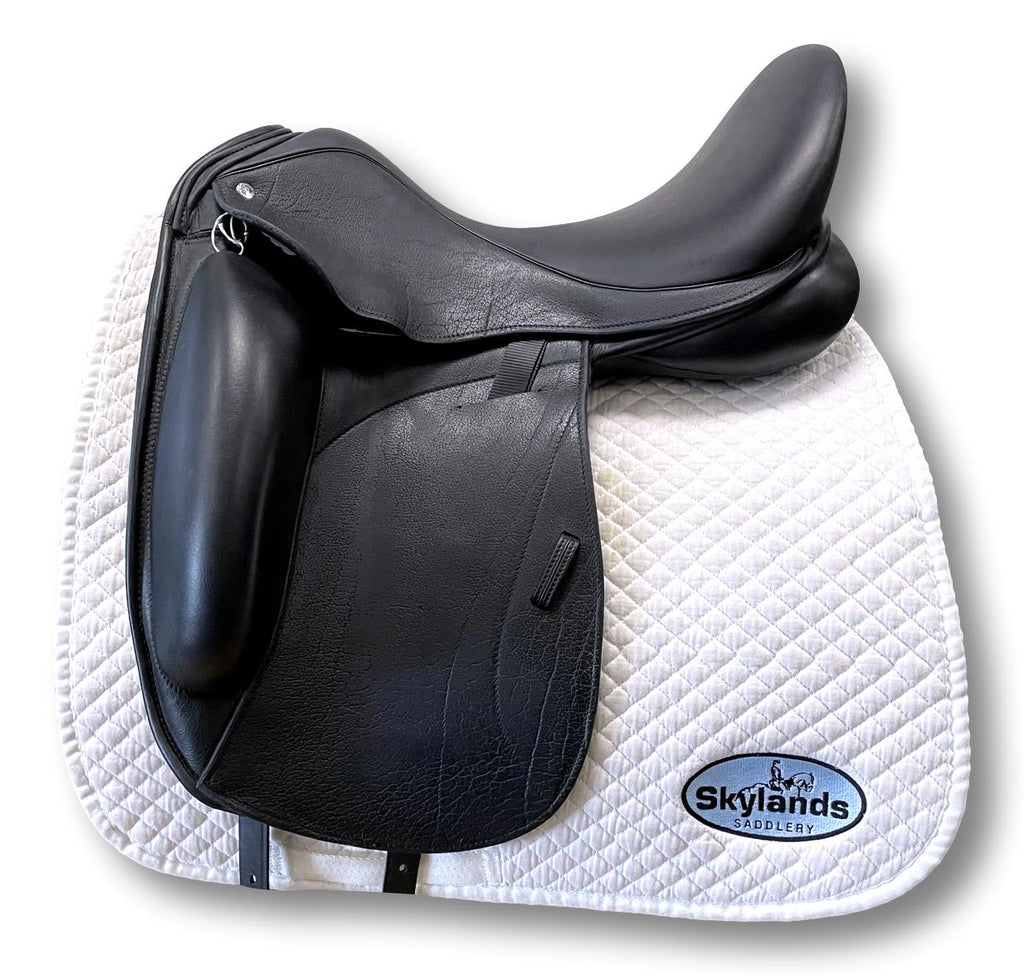 "Used Custom Icon Star 18"" Monoflap Dressage Saddle"