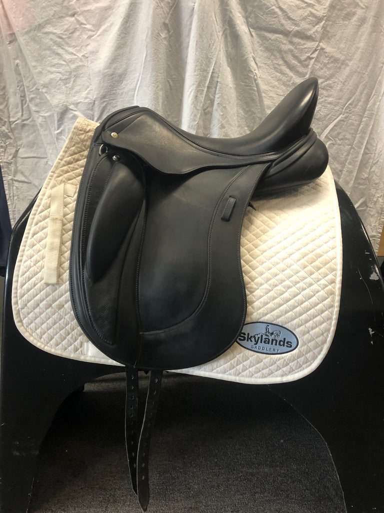 "HOLD: Used Schleese HK Monoflap 17.5"" Dressage Saddle"