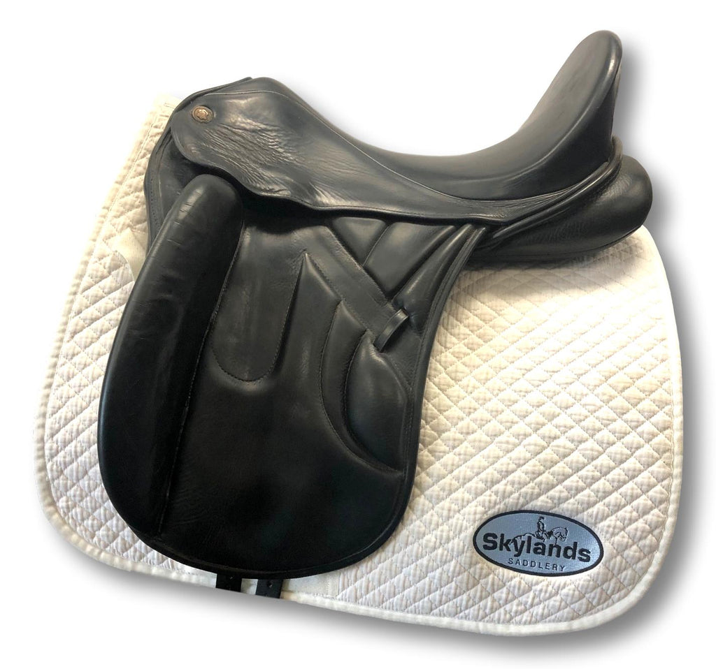 "Used Hennig Princess Monoflap 17.5"" Dressage Saddle"
