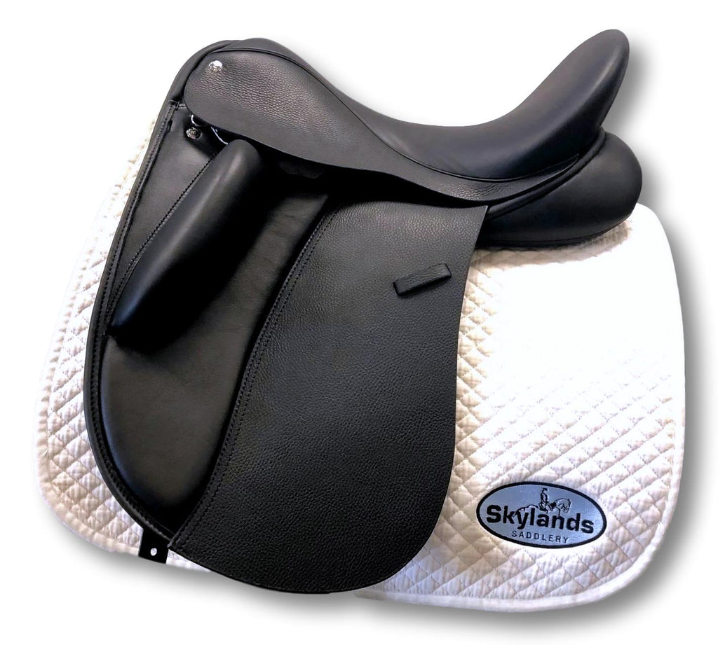 "Demo Custom Saddlery Wolfgang Signature Solo 17.5"" Dressage Saddle"