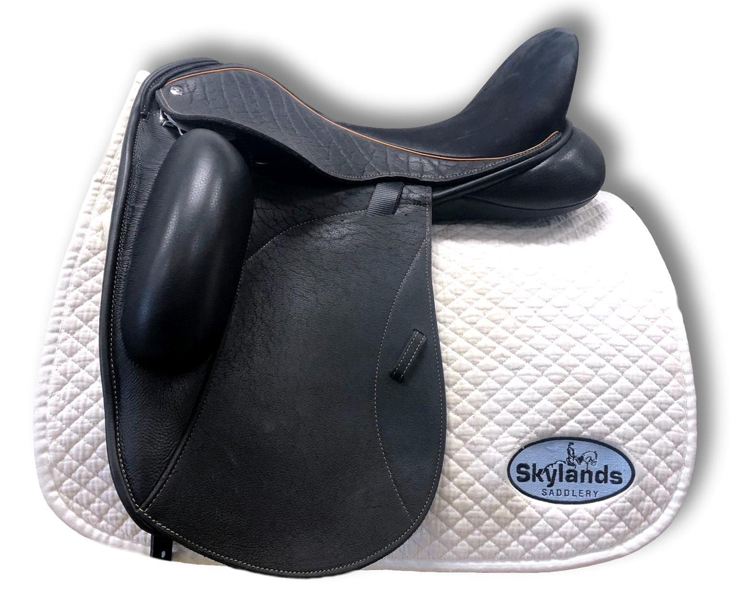 "Demo Custom Saddlery Icon Coda 17.5"" Dressage Saddle"