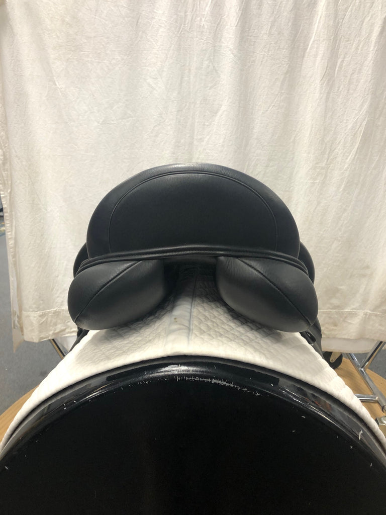 "HOLD:  Demo Custom Steffen's Advantage Monoflap 17.5"" Dressage Saddle"