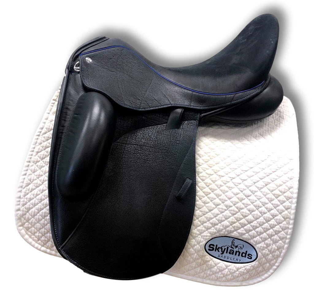 "Demo Custom Saddlery Icon Star 18"" Dressage Saddle"