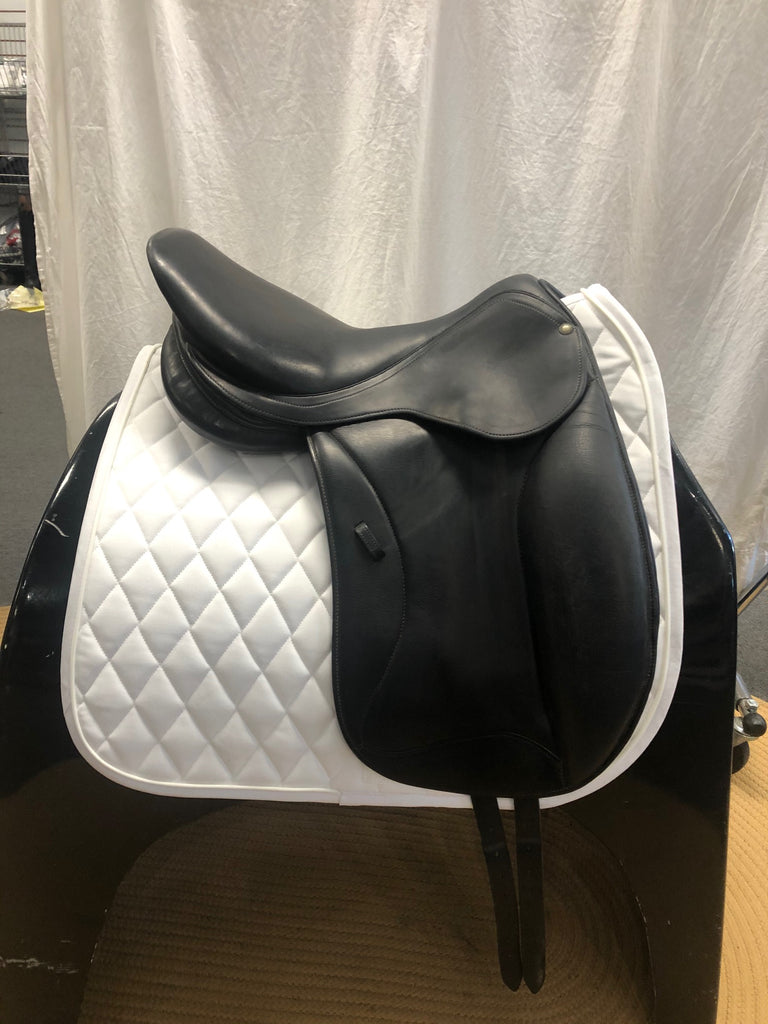 "Used Forestier Monoflap 17.5"" Dressage Saddle"
