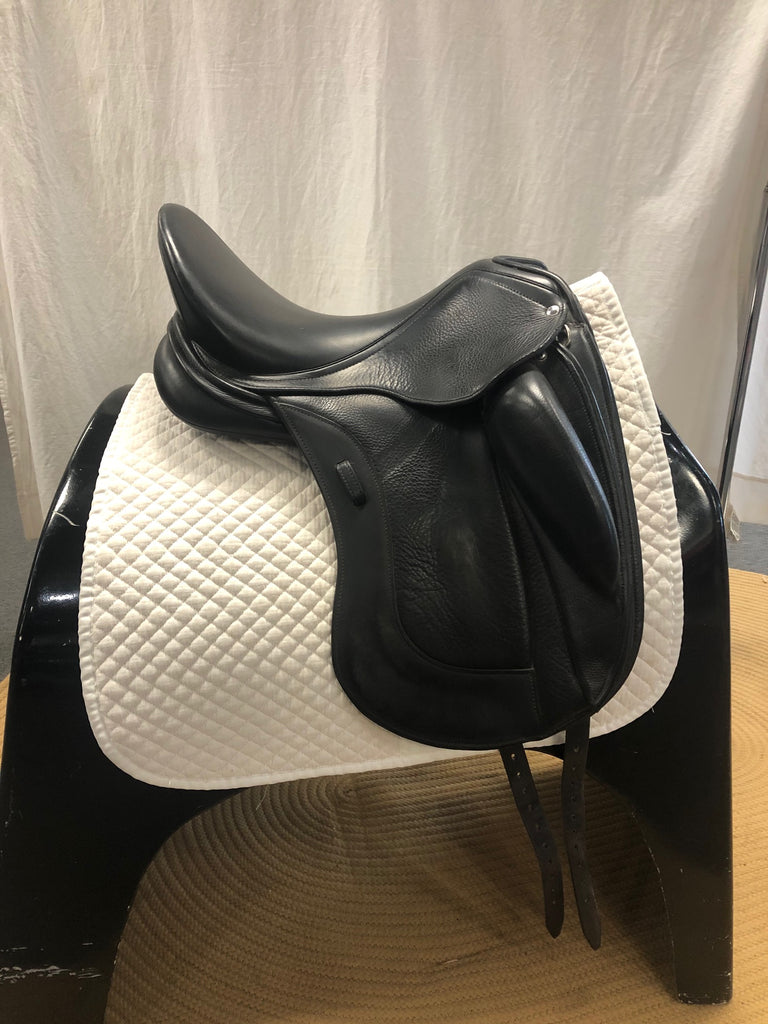"HOLD: Used Schleese Link II Monoflap 17.5"" Dressage Saddle"