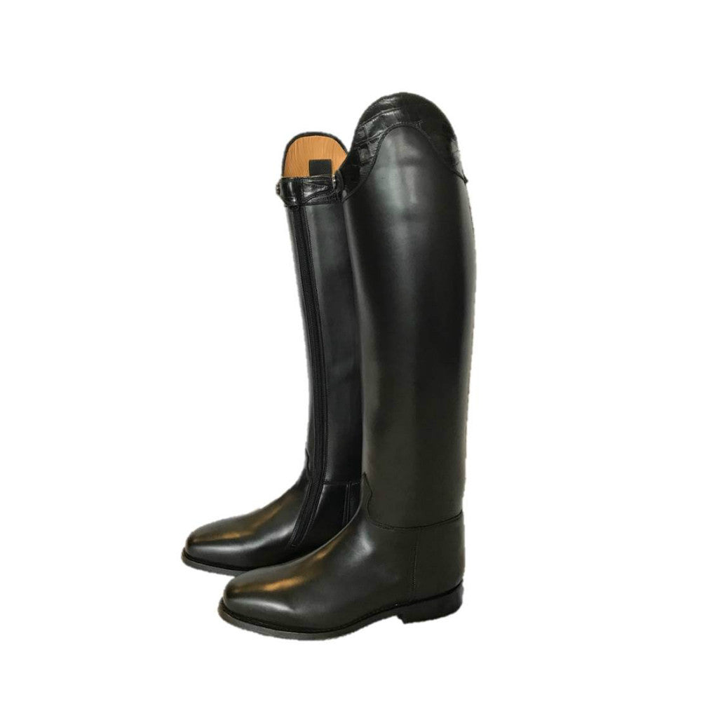 3566230558f18 Lady Dressage Boots with Croc Top - US Size 9