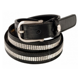 Swarovski Crystal Mesh XS Leather Belt
