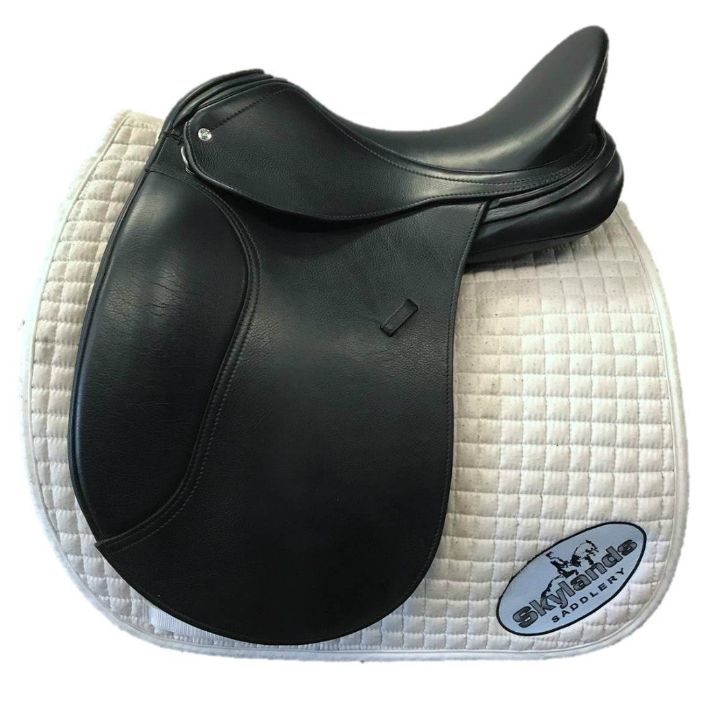"HOLD: Used Schleese Prelude 17.5"" Dressage Saddle"
