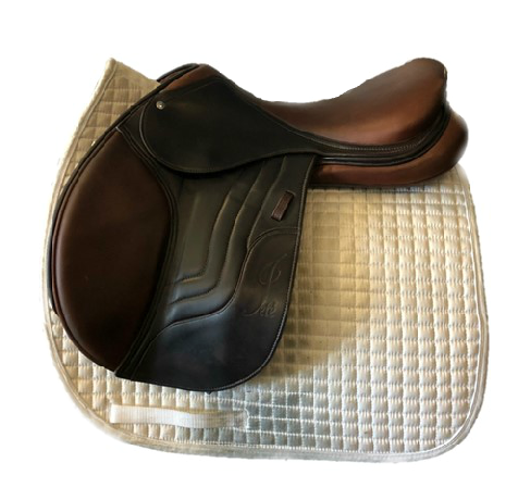 "HOLD: Used Schleese Merci 17.5"" Jump Saddle"