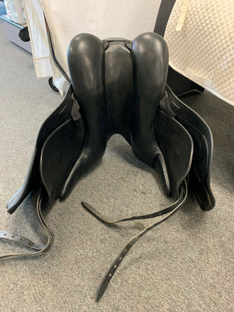 "Used Schleese HK (Heike Kemmer) 17.5"" Dressage Saddle"