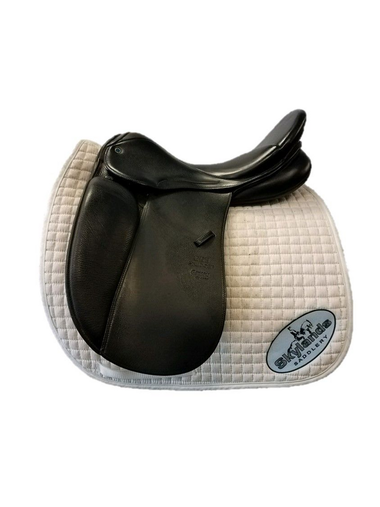 "Used Stubben Genesis Deluxe Dressage Saddle with Biomex Seat  17.5""  Black"