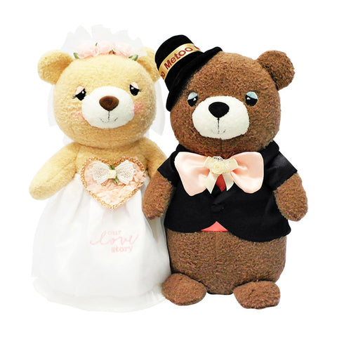 Wedding Couple Bears (Black Suit & White Gown)