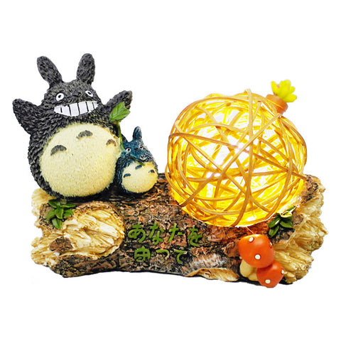 Dragon Cat & Rattan Ball Light