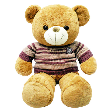 Bear with Stripes Sweater Plush