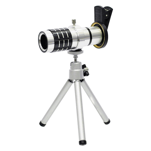 Mobile Telephoto Lens with Tripod