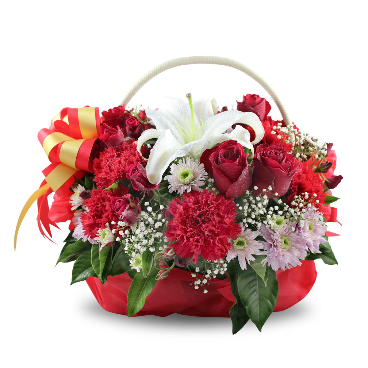 """Red Passion"" Basket Of Flowers"