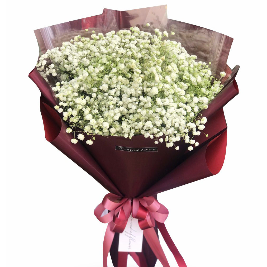 Delicate Bouquet Of Baby Breath Flowers - April Flora