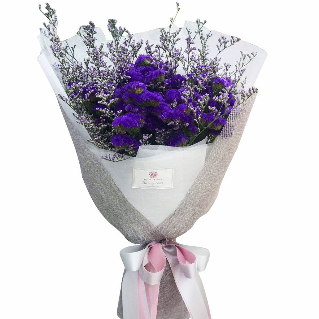 Stay Forever - bouquet of Statice flowers - April Flora