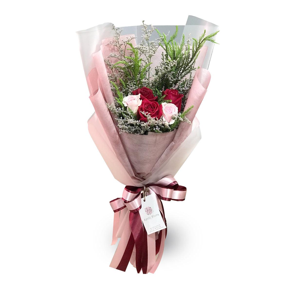 """Surprise"" Bouquet Of Roses and Caspia - April Flora"