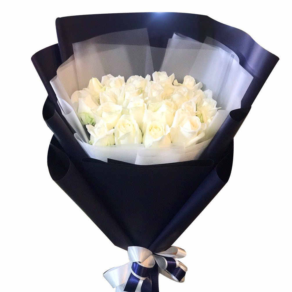 Luxe Bouquet Of 20 White Roses - April Flora