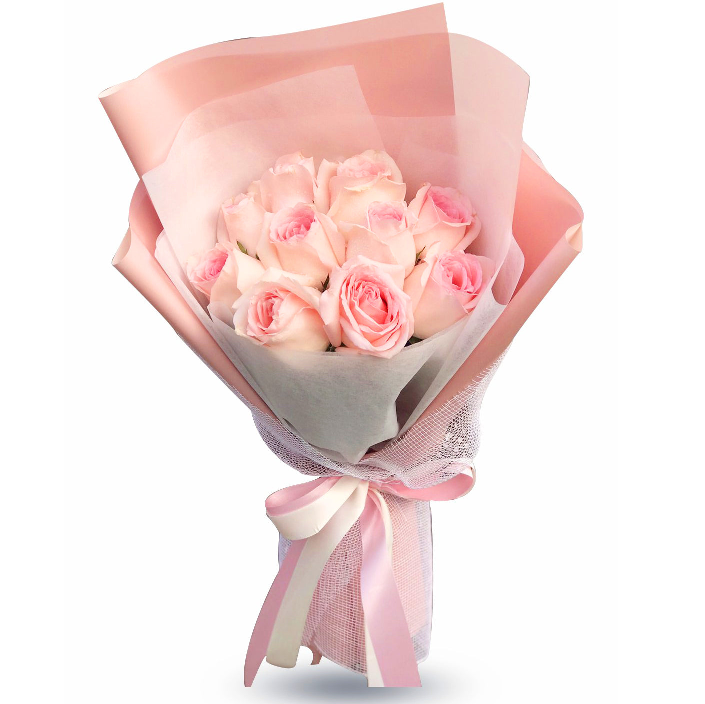 Stylish Bouquet Of Light Pink Roses - April Flora