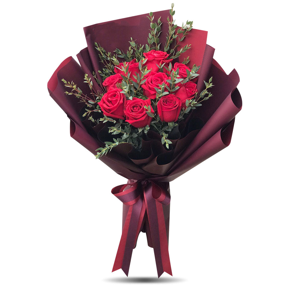 Classic Bouquet Of 10 Red Roses - April Flora