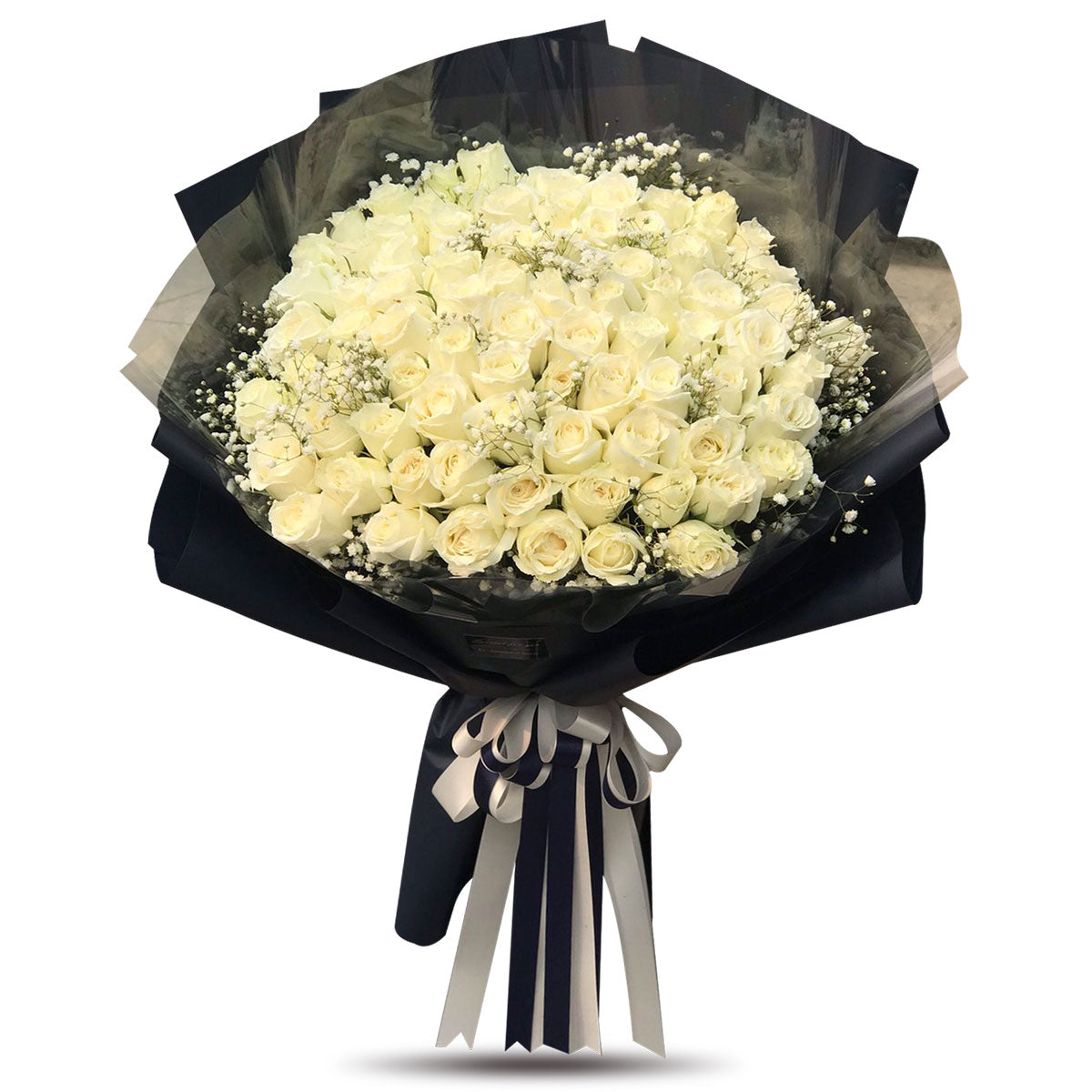 XXL Bouquet Of 100 White Roses - April Flora