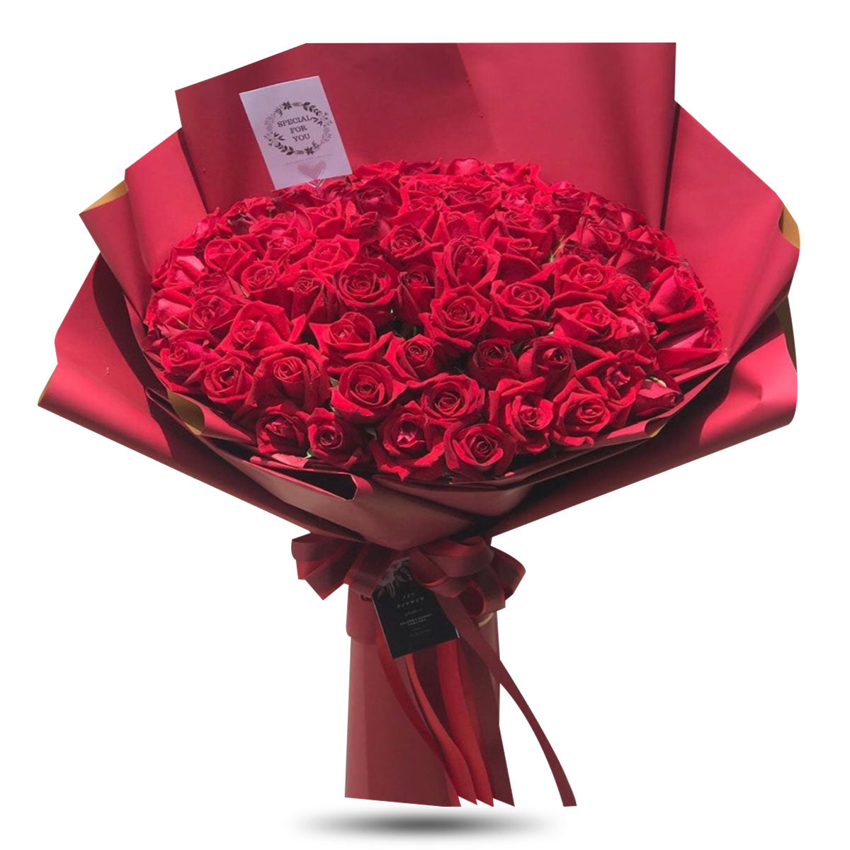 Bouquet Of 100 Red Roses - April Flora