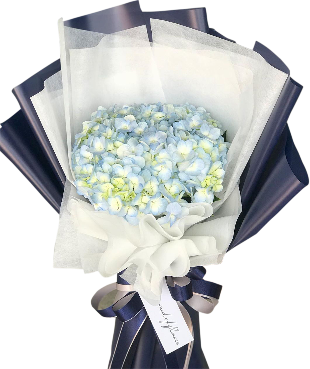 Pastel Blue Bouquet With Hydrangea