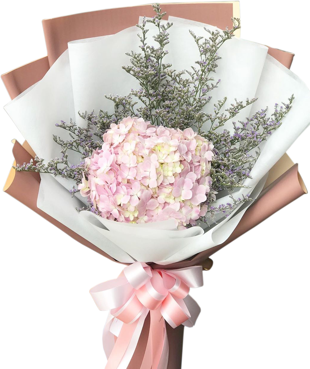Pinky Bouquet Of Hydrangea - April Flora