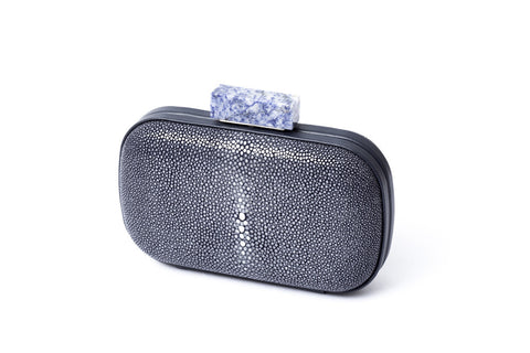 NAMU - Starry Night Minauderie Clutch in Stingray and Cow Leather