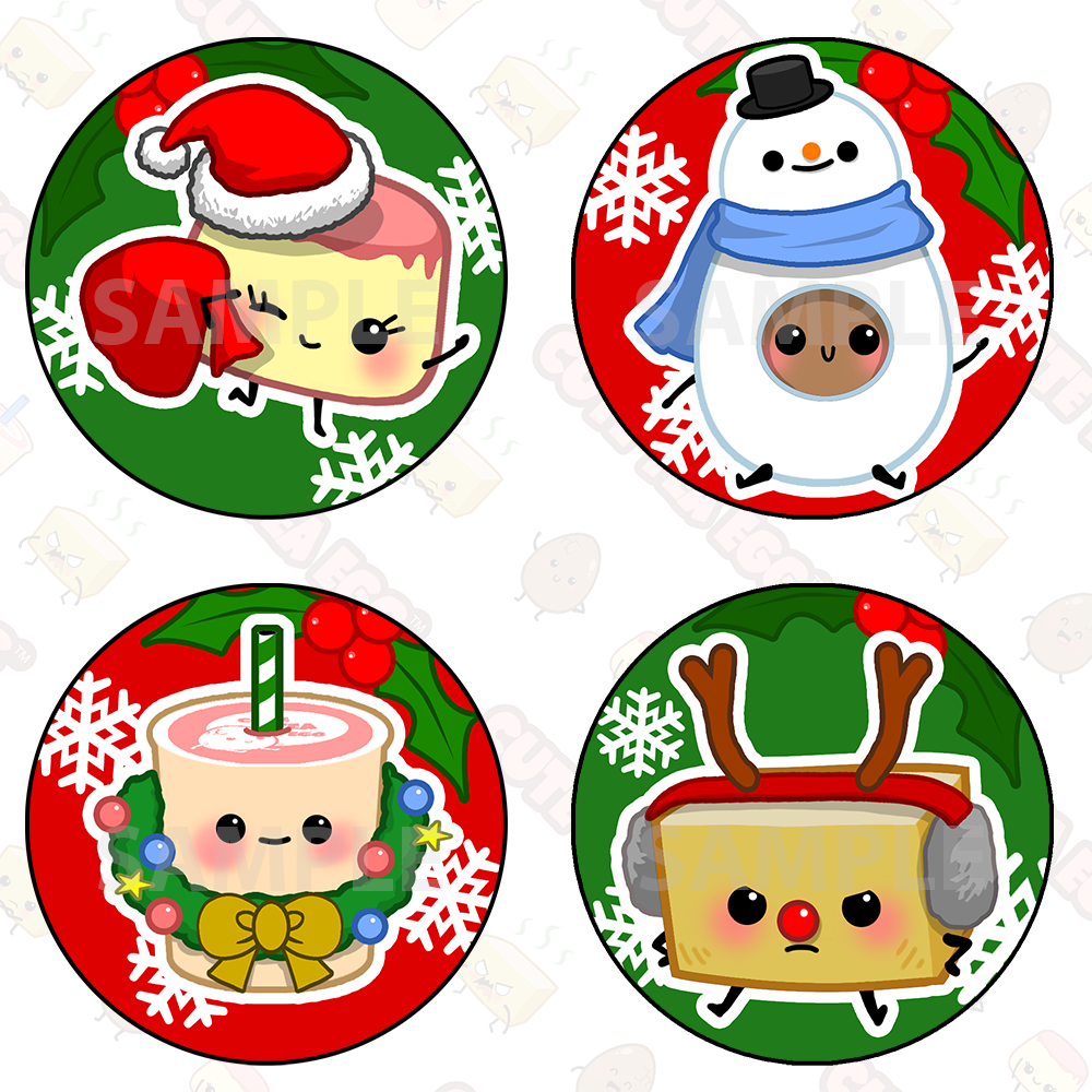 Cute Christmas Sticker Pack