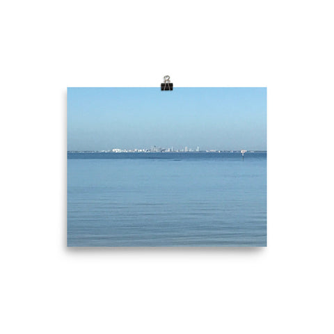 St Petersburg, FL across the bay to the west, exactly 6 miles away… Poster, by Phillip Kokesh