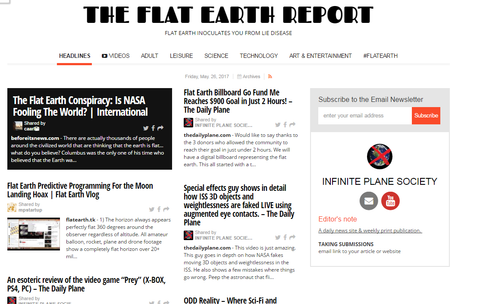 THE FLAT EARTH REPORT, VOL 1, May 20-27 PRINT EDITION