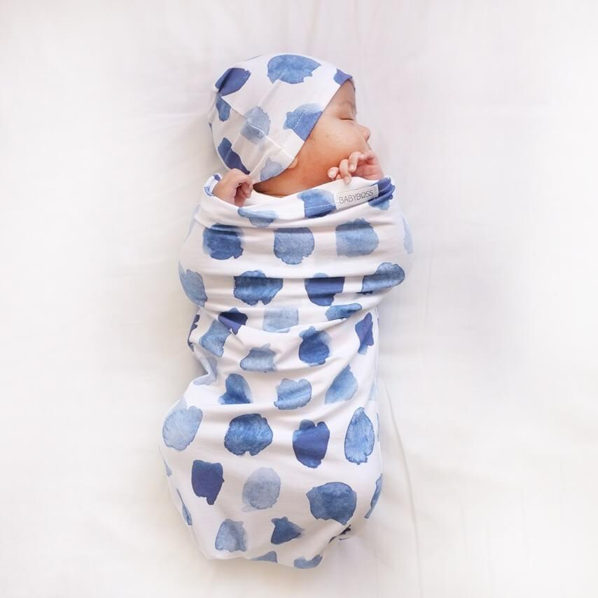 Snuggle Hunny Kids Snuggle Swaddle & Beanie Set - Ocean Skies