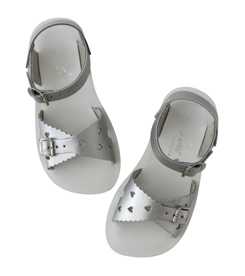 Salt Water Sandals Sun-San Sweetheart Silver