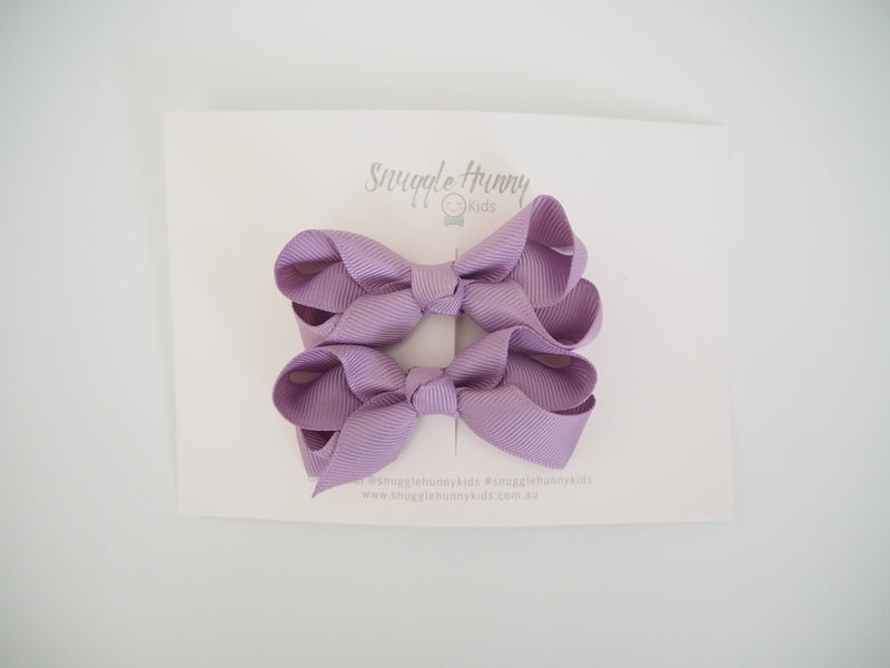 Snuggle Hunny Kids Small Clip Bows - Lilac