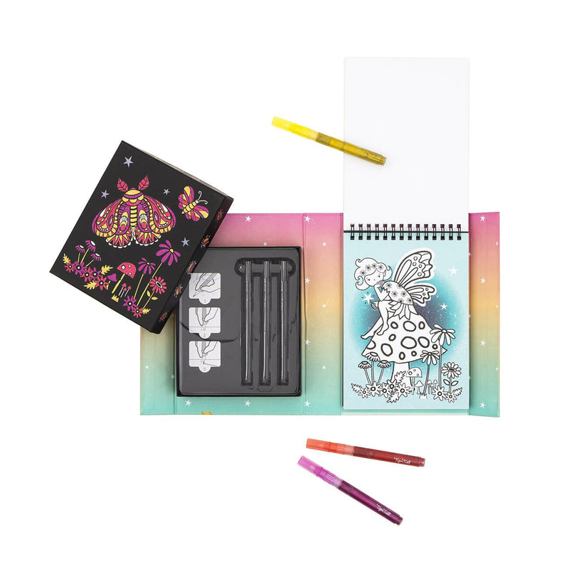 Tiger Tribe Glitter Colouring Set- Night Garden