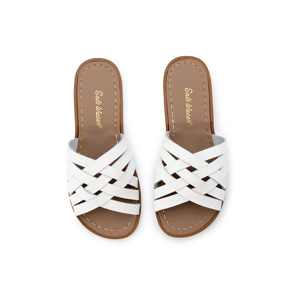 Salt Water Sandals Retro Slide White