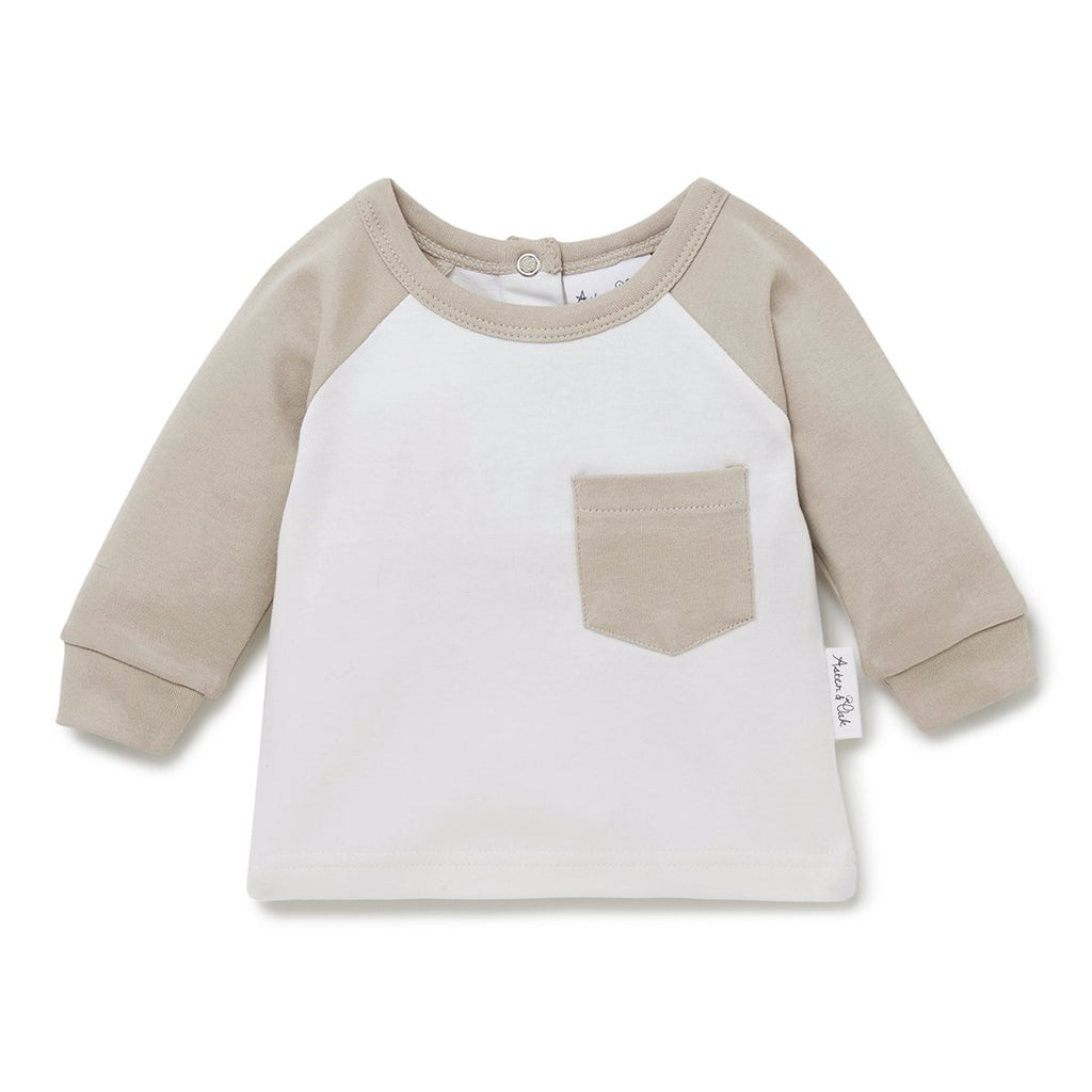 Aster & Oak Leaf Drop Raglan Pocket T-Shirt
